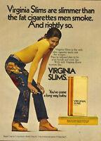 1972 Vintage ad for VIRGINIA SLIMS Cigarettes/70's fashions/Pretty Model (060613