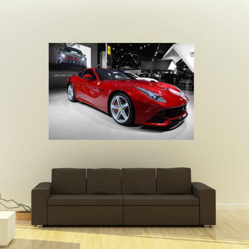 Poster of Ferrari F12 Berlinetta Giant HD Huge 54x36 Inch Print 137x91 cm