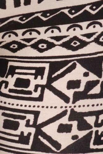 Egyptian Cleopatra TAN BLACK AZTEC TRIBAL COTTON leggings pants S M L