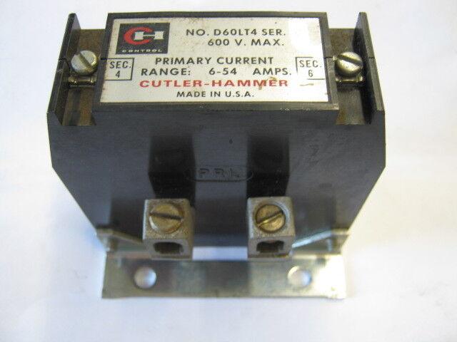 D60LA Lot of 4 CUTLER-HAMMER CURRENT TRANSFORMER  D60LT4