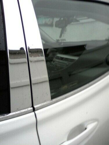 CHROME PILLAR POSTS FOR LINCOLN MKC WITH KEYPAD CUTOUT 2015-2017