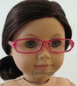"""Lovvbugg Pink Eye Glasses for 18"""" American Girl Doll Clothes Accessory"""