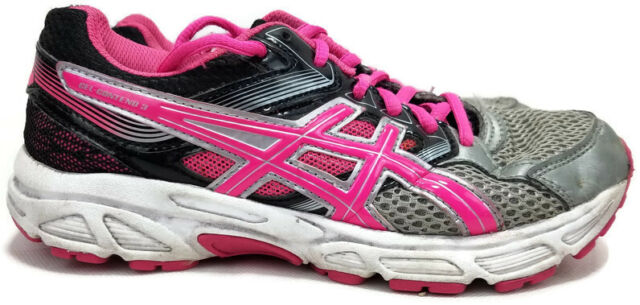 ASICS C566n Gel-contend 3gs Pink Lime Coral Running Shoes SNEAKERS Size 4 1/2