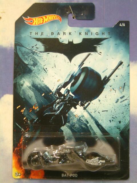 EXCELLENT MATELL HOT WHEELS THE DARK KNIGHT BATMAN BAT-POD BIKE MINT ON CARD 4/6