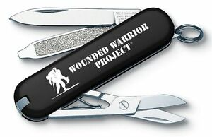 Victorinox Swiss Army Blk Classic Wounded Warriors Project