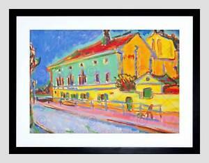 ERNST-LUDWIG-KIRCHNER-GERMAN-HOUSES-DRESDEN-BLACK-FRAMED-ART-PRINT-B12X5188