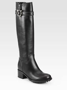 free shipping comfortable Salvatore Ferragamo Gancini Riding Boots low shipping cheap price outlet with credit card cheap price for sale y4ss6JUgz