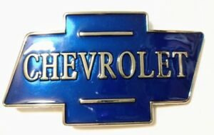 Blue-chrome-Color-Classic-CHEVROLET-logo-metal-Belt-Buckle-gift-CHEVY-RACING