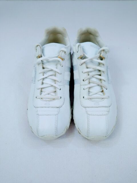 White Leather Walking Shoes Women Sz