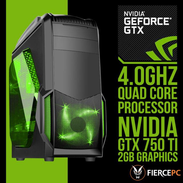 SUPER FAST Quad Core 8GB RAM 1TB Gaming PC NVIDIA GTX 750 Ti 2GB Graphics 216301