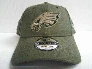 11e4ddae 2018 Philadelphia Eagles Era 9twenty NFL Salute to Service Hat Dad Cap Adj