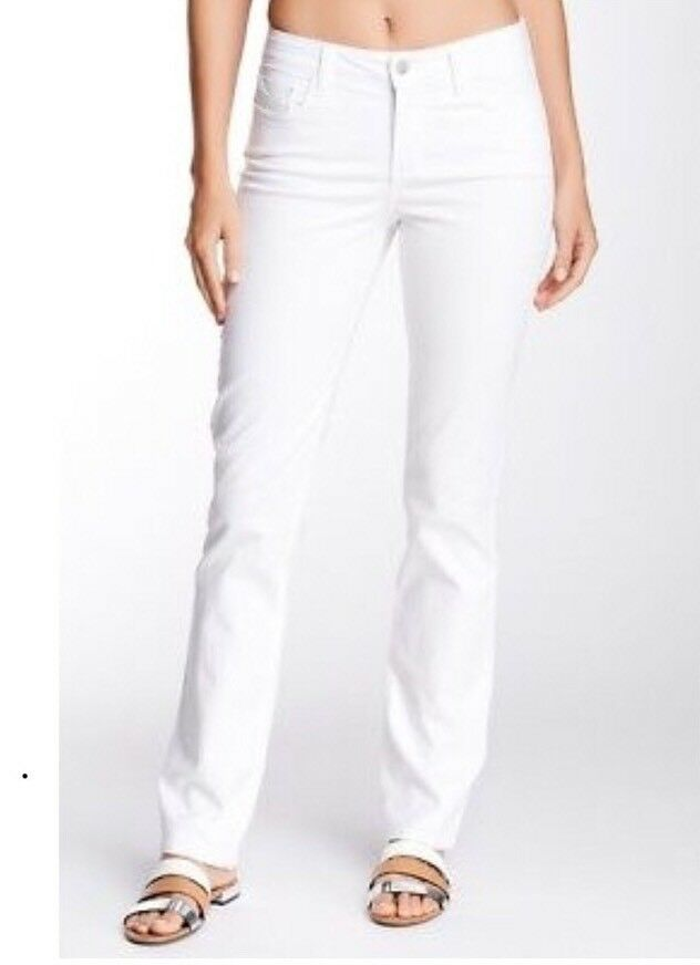NWT NYDJ Hayley Straight Leg Jeans in Optic White Size 6P