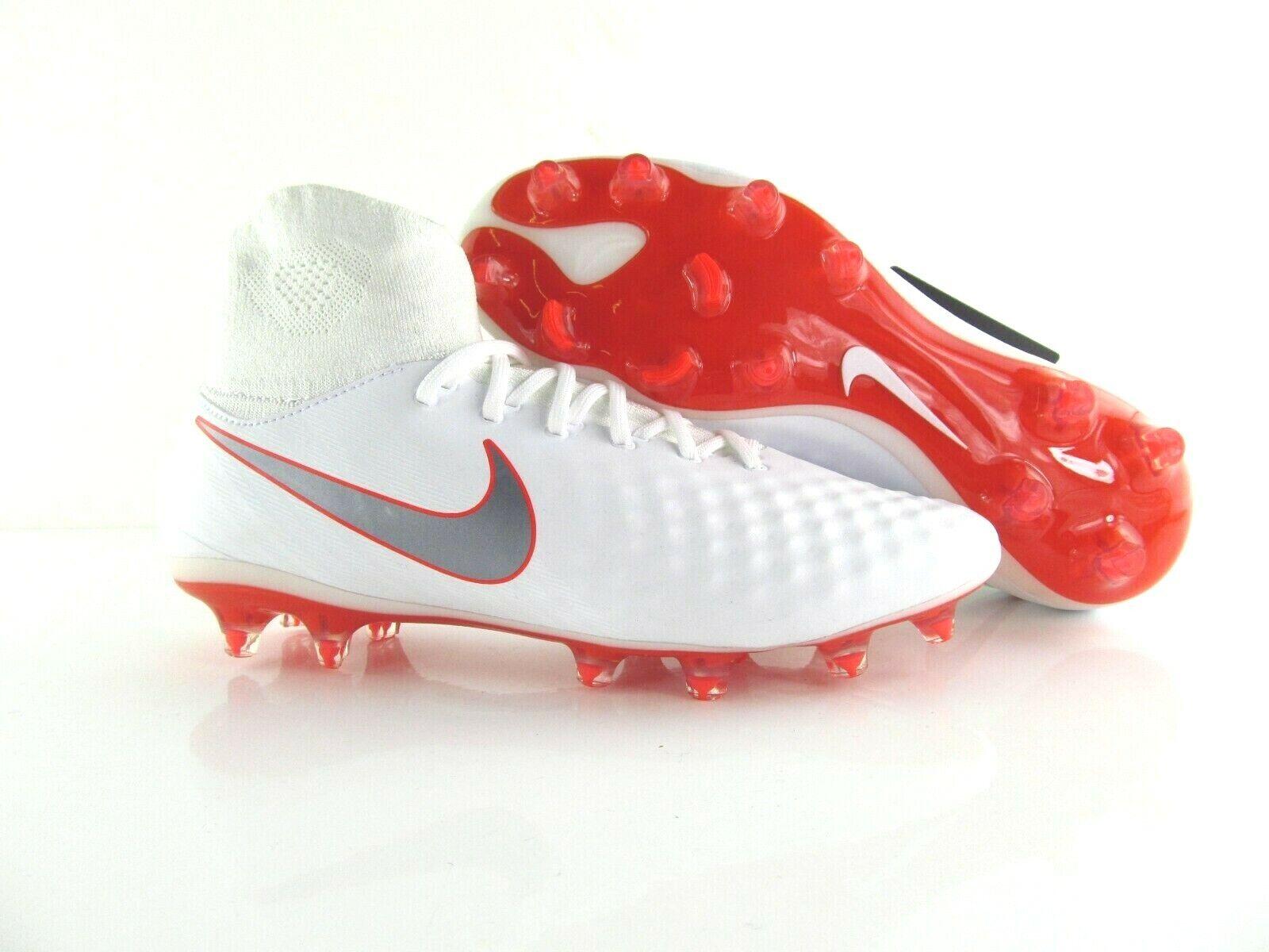 Nike magista obra 2 pro df FG acc Weiss rojo Soccer fútbol uk_7 us_8 41 EUR