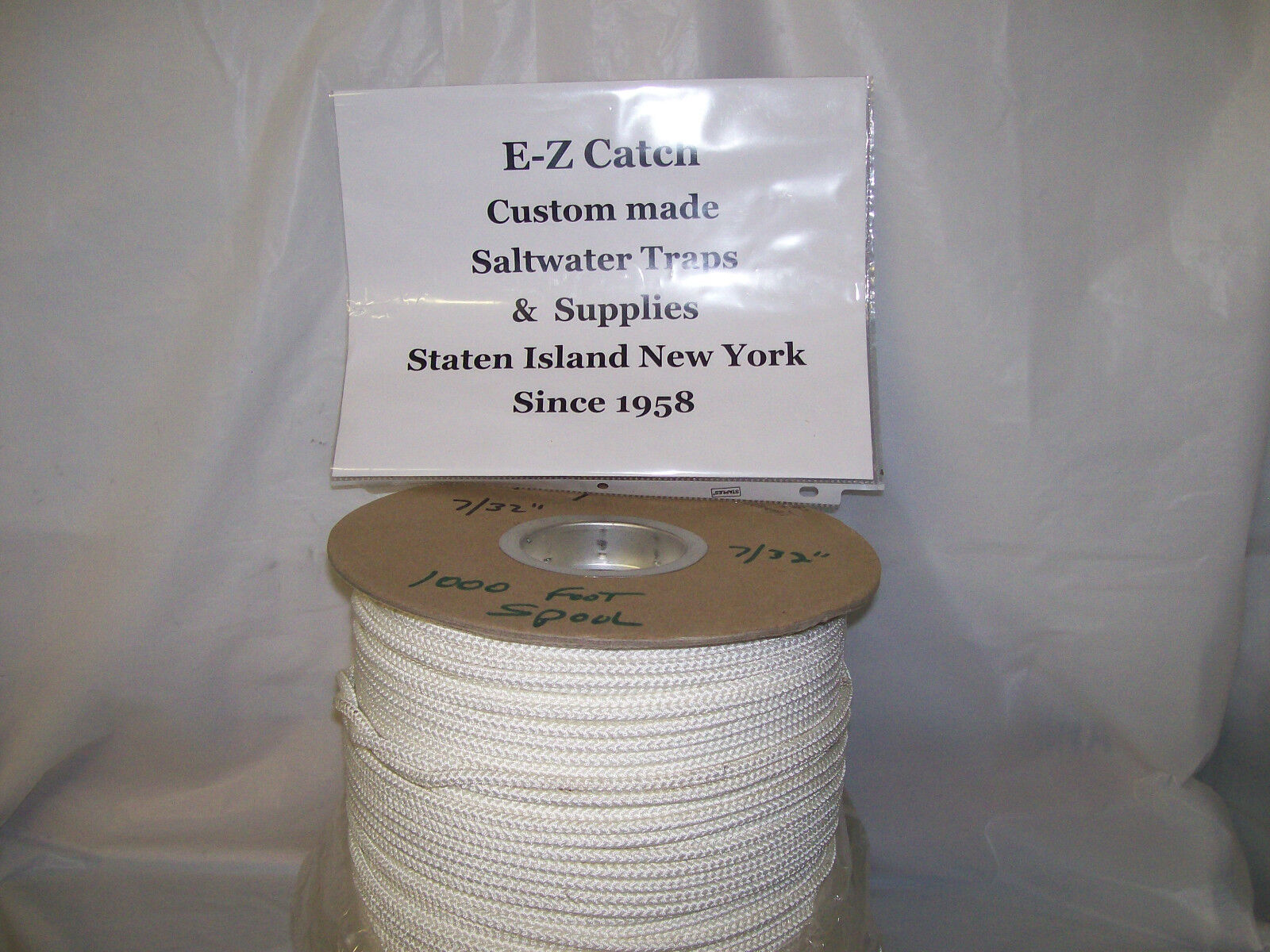 E-Z Catch Commercial Grade Braided Sinking Crab Pot   Trap Rope 1000 ft. Size 7