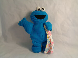 1998-Applause-Jim-Henson-Cookie-Monster-Woven-Fabric-Rattle-Toy-7-034