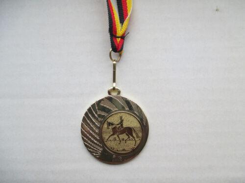Reiten Dressur Reiter Pokal Kids Medaillen mit Band&Emblem Turnier Pokale (e262)