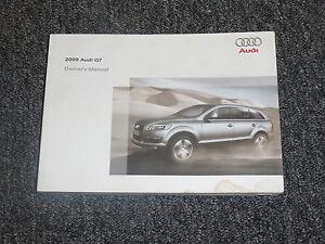 2009 audi q7 owner manual user guide quattro 3 6 premium 3 0 tdi 4 2 rh ebay com 2010 audi q7 repair manual 2010 audi a4 owners manual pdf