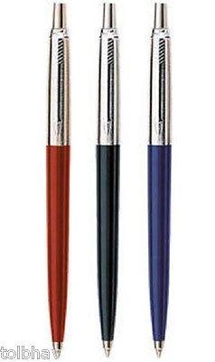 New Parker Jotter Standard CT Ball Pen BP Set of 3 Blue Ink Blue + Black + Red