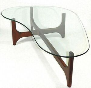 Teak-Coffee-Table-With-Glass-Adrian-Pearsall-Style-MCM-Mid-Century-Modern