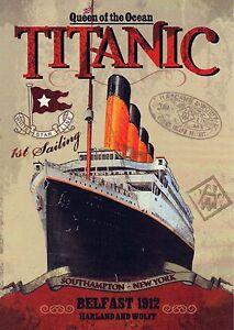 "Vintage 1912 ""TITANIC.HARLAND & WOLFF"" Vintage Advertising ..."