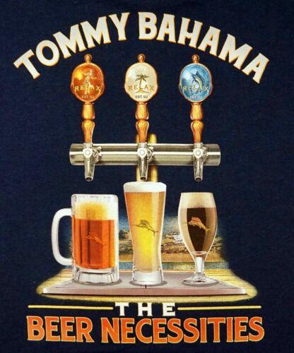 """Tommy Bahama  /""""BEER NECESSITIES/"""" NWT Reg $49.50 NAVY Men/'s 100/% Cotton"""
