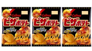 Calbee-Pizza-Potato-chips-Japanese-Snack-63g-3pcs