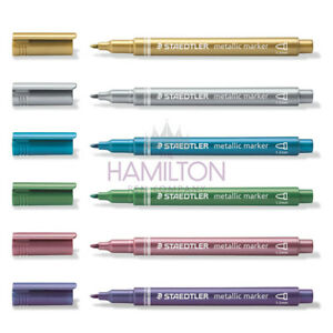 Image is loading STAEDTLER-METALLIC-MARKER-PEN-6-sparkling-colours-available 465007a79d
