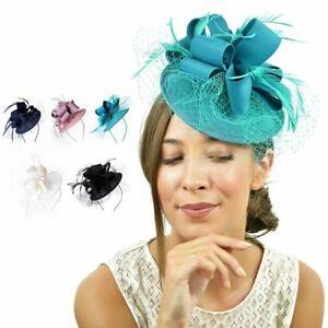 à Condition De Femmes Fleur Net Serre-tête Fascinator Hat Alice Band Mariage Course Royal Ascot Fabrication Habile