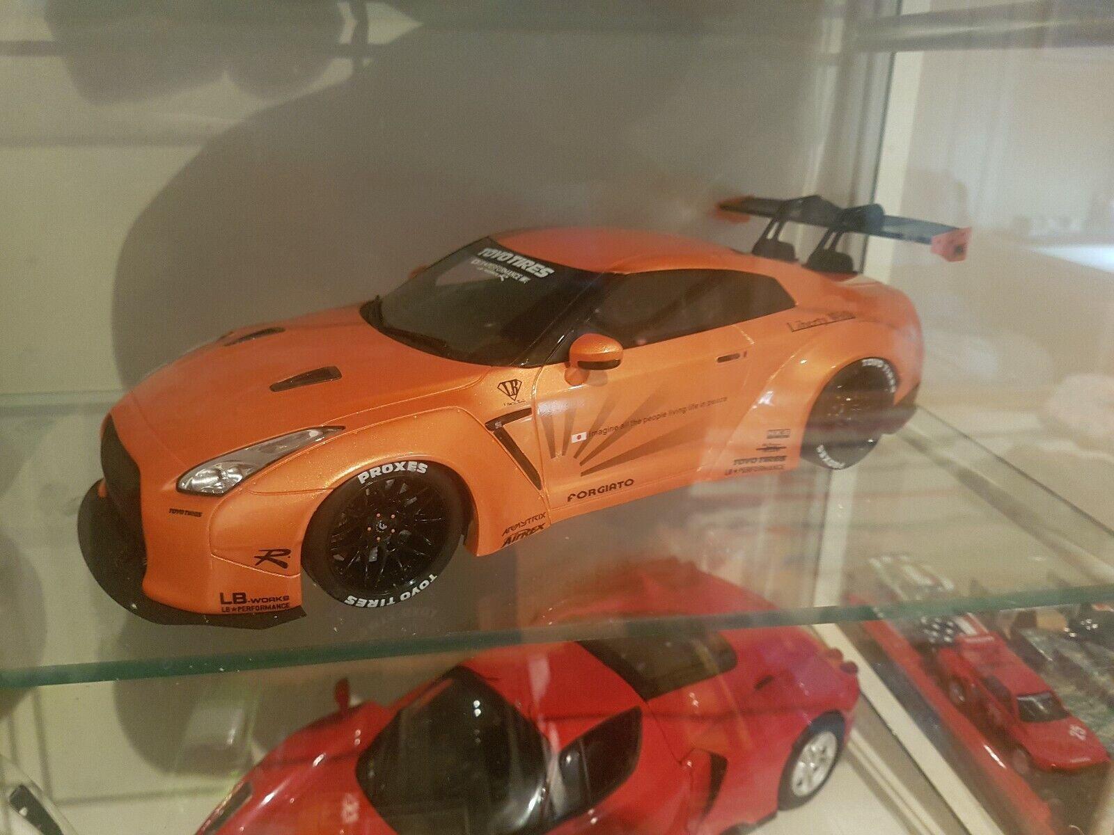 GT Ande 1 18 Nissan GTR R35 Liberty Walk Kit orange