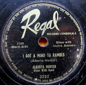 BLUES-78-ALBERTA-HUNTER-I-Got-a-Mind-to-Ramble-Midnight-Blues-REGAL-3252