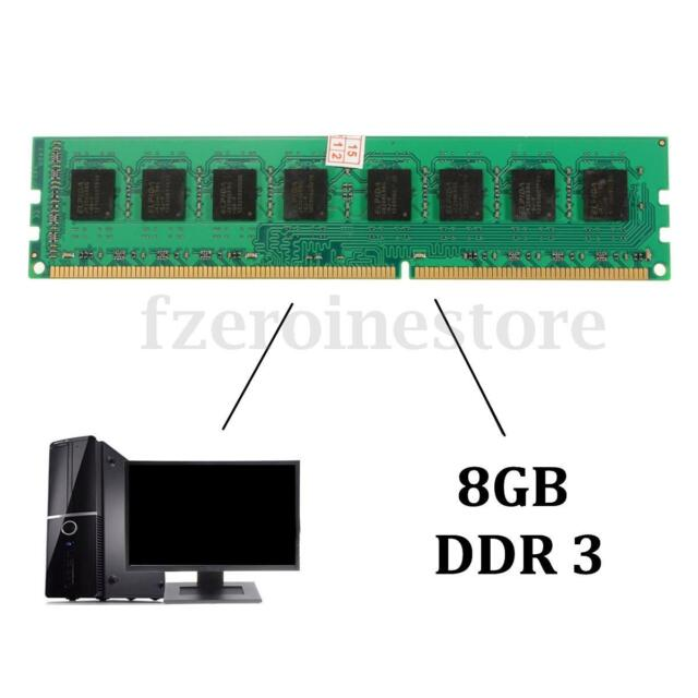 8GB DDR3 1600MHz PC3 12800 240-pin DIMM Memory Module for AMD RAM CPU Desktop PC
