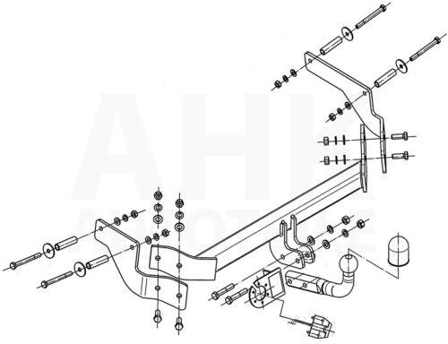 Kpl AHK Fiat Fiorino III 225 08-16 Anhängerkupplung starr+ES 13p uni