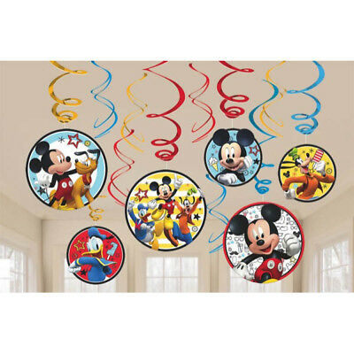 Mickey Mouse Hanging Swirl Decoration Boy Birthday Party Decoration Supplies