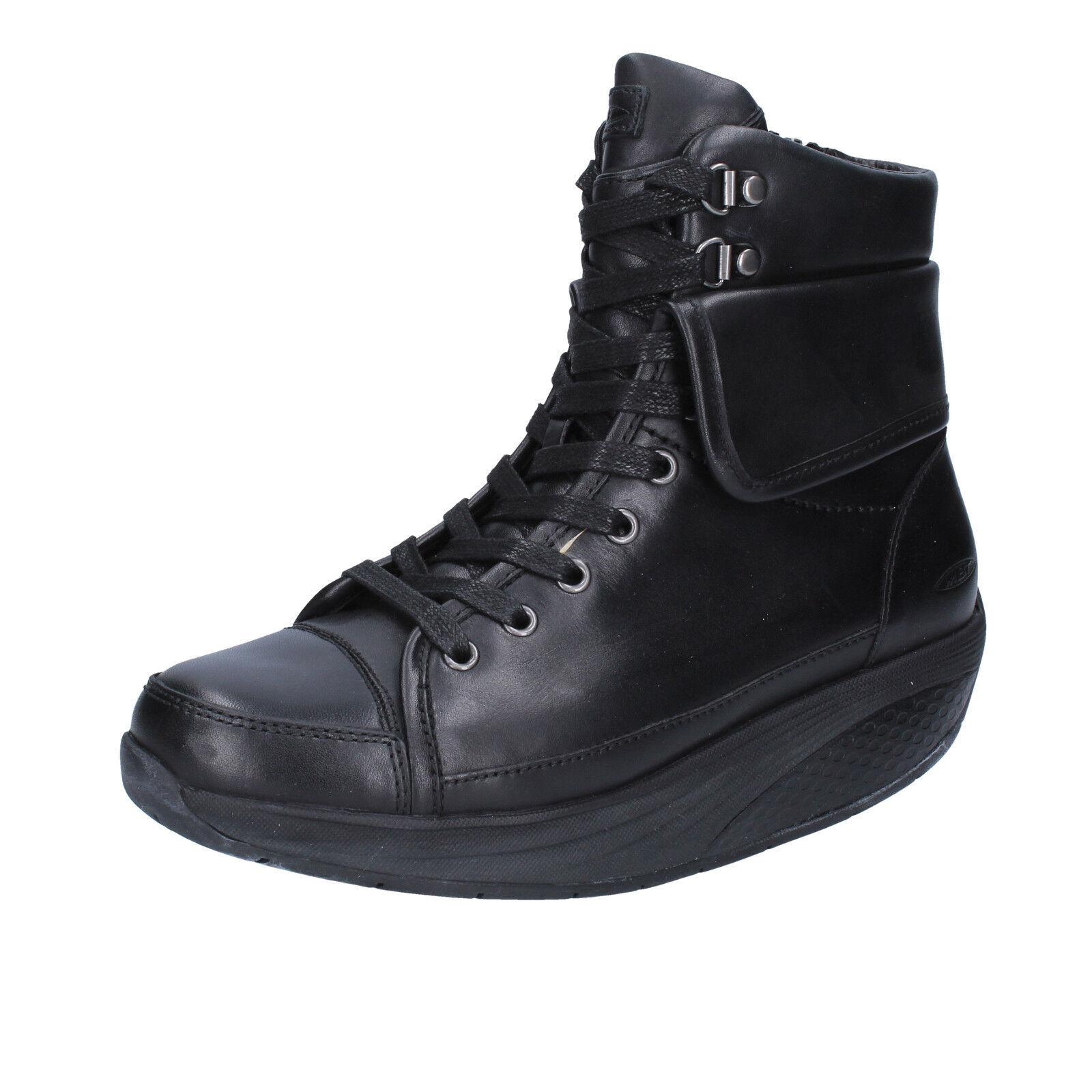 scarpe donna MBT 39 EU stivaletti nero pelle BT206-39
