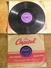 """Vintage 78 1950s Nat King Cole """"The Trouble With Me Is You"""" """"Who Do You Know In-"""