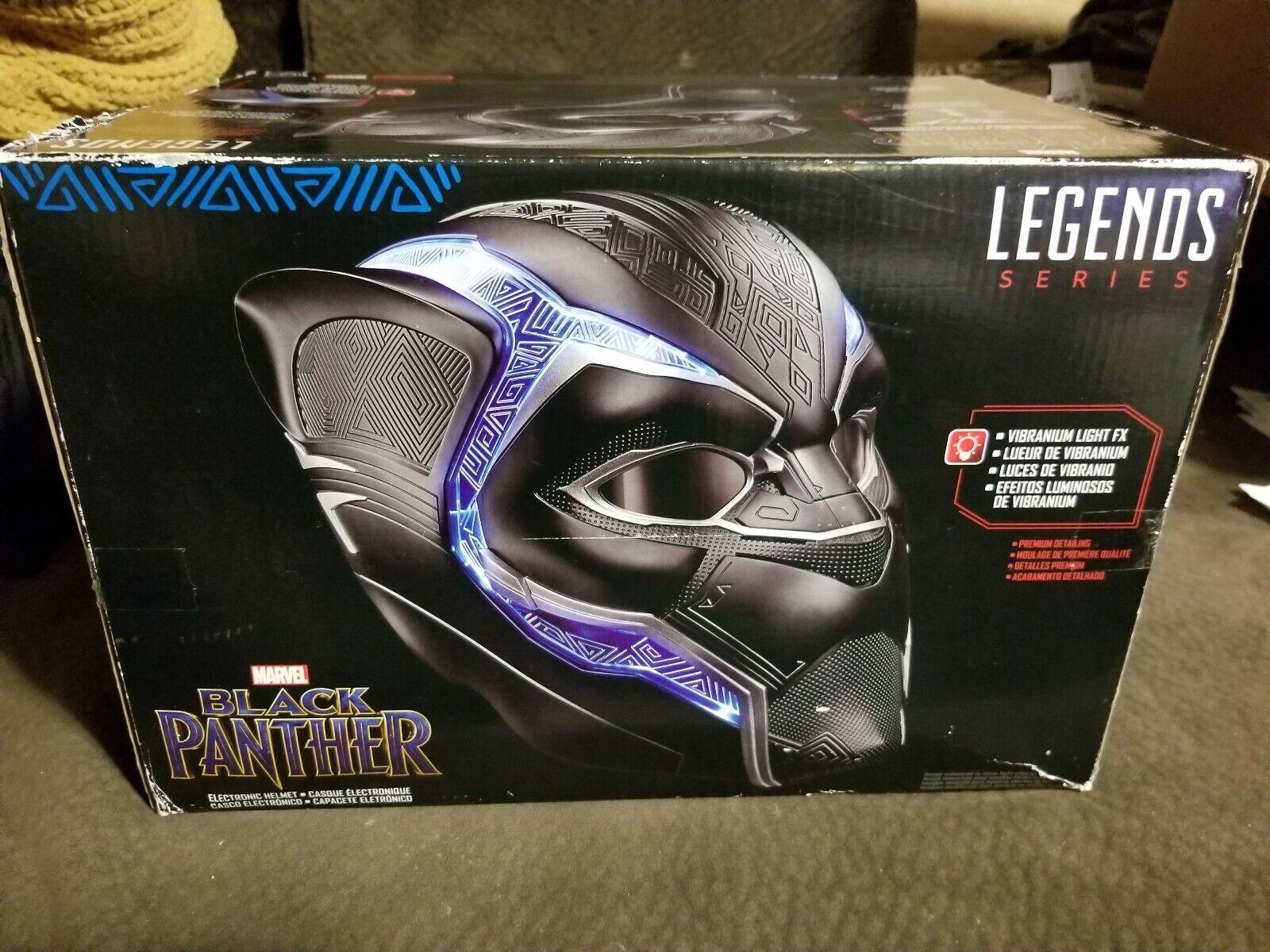 Marvel Legends Series Black Panther Electronic Helmet Vibranium Full Size 1 1