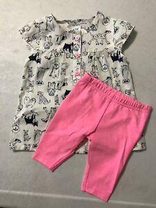 Carter/'s NWT 12M Infant Girl Top Pant Legging Set $24