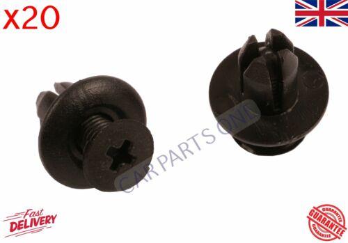 20X cli̇ps pour hyundai̇ ki̇a MAZDA FORD Fender Lin 8 mm mm passage de roue