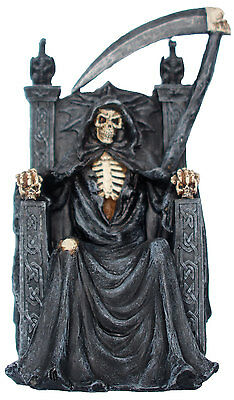 Decorative Figures Skeleton on Chair Mystic Gothic Fantasy Decoration