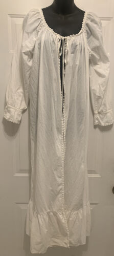 Vintage Victorian Nightgown Night Gown White Robe