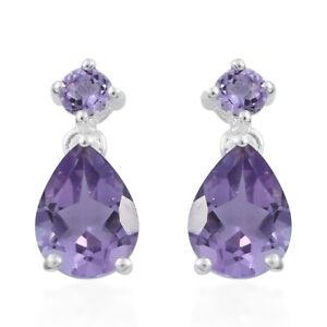 925-Sterling-Silver-Pear-Purple-Amethyst-Dangle-Drop-Earrings-for-Women-Jewelry