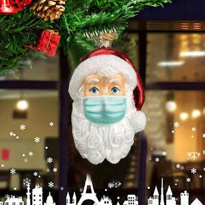 Christmas Tree Ornaments 2020 Santa Wearing Mask Hanging Decor Creative Gifts!!!