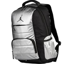 Image is loading Nike-Air-Jordan-Jumpman-Driven-Backpack-Metallic-Silver- bd13f71f76036