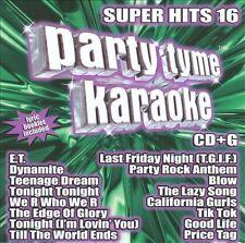 Party Tyme Karaoke - Super Hits 16 New Sealed CD Katy Perry Lady Gaga Bruno Mars