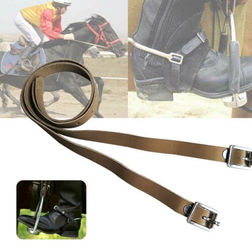 High Quality Shires Leather Spur Straps Buckles Riding Hunting New