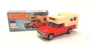 Vintage-1979-Matchbox-1-75-serie-38-Camper-Rojo-Nuevo-en-Caja-Original