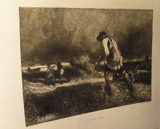 [CYNEGETIQUE GRAVURE] DECAMPS / LEON (Edouard, gravée par) - Le Garde-chasse.