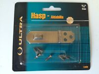 Ultra Hardware Hasp Antique Brass Finish 3/4 X 2 3/4 19 Mm X 70 Mm With Screws