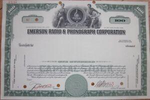 SPECIMEN-Stock-Certificate-039-Emerson-Radio-amp-Phonograph-Corporation-039