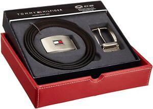 Tommy-Hilfiger-Men-039-s-Set-Reversible-Leather-Belt-Removable-Buckle-11TL08X007